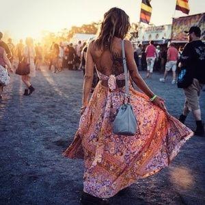 Spell Lolita Halter Maxi Dress Lover LARGE